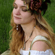 Asymmetrical Feathered Rose Crown